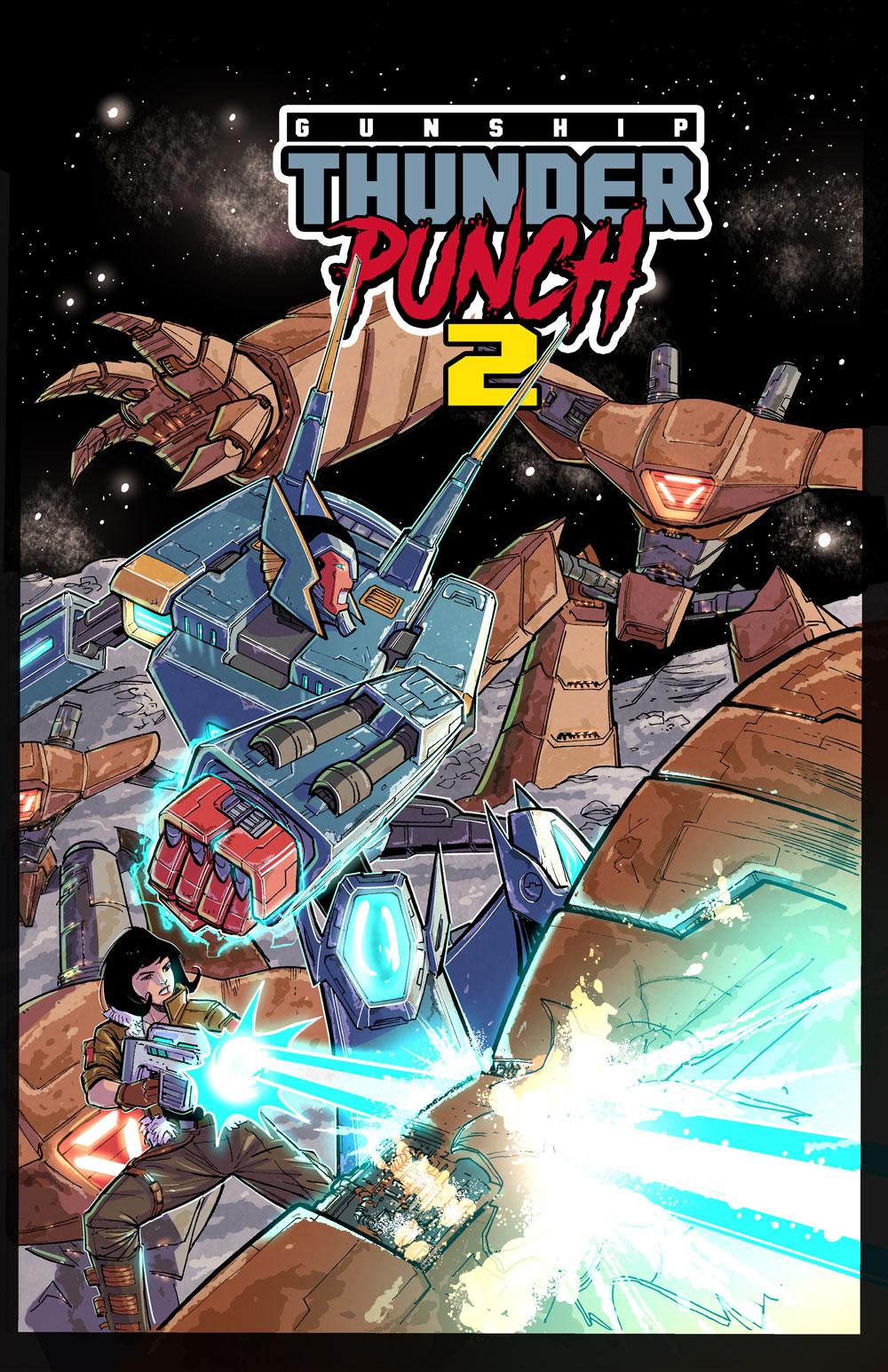 Gunship Thunderpunch Book 2 & Synthwave Album
