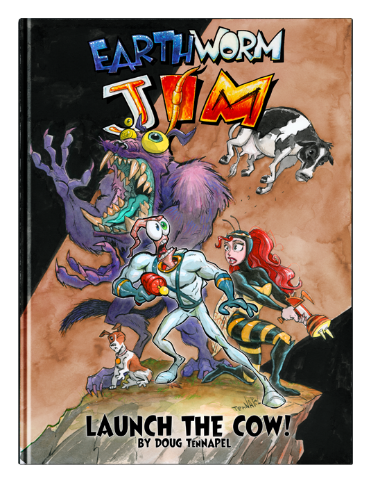EARTHWORM JIM: Launch The Cow comic & NEW PRINT!