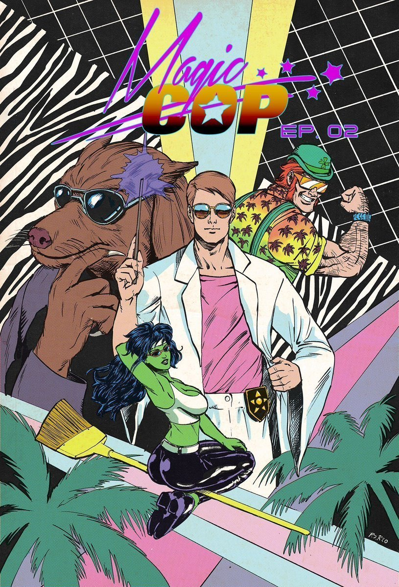 MAGIC COP 2 : White Lines from Zaid Comics