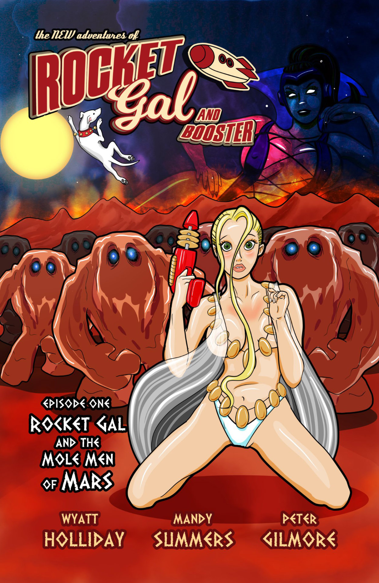Rocket Gal and the Mole Men of Mars