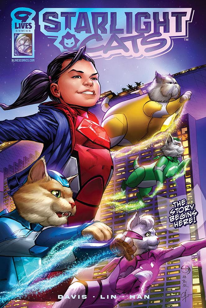 Shane Davis' Starlight Cats: Merlion Rising Comic